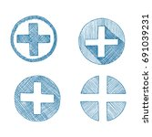 first aid  a set of four icons  ... | Shutterstock .eps vector #691039231