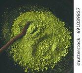 japanese matcha green tea...   Shutterstock . vector #691039837