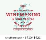 wine illustration and vector...   Shutterstock .eps vector #691041421