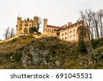the view of hohenschwangau... | Shutterstock . vector #691045531