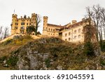 the view of hohenschwangau... | Shutterstock . vector #691045591