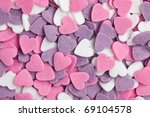 colorful hearts background - stock photo