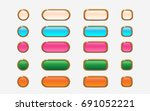 vector colorful wooden style... | Shutterstock .eps vector #691052221