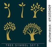 set of simple and stylish tree... | Shutterstock .eps vector #691053409