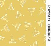 inflorescence dill. vector... | Shutterstock .eps vector #691062607