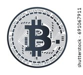 bitcoin digital currency vector | Shutterstock .eps vector #691067911