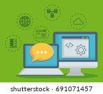 data center design | Shutterstock .eps vector #691071457
