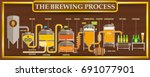 the brewing process info... | Shutterstock .eps vector #691077901