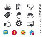 hand icons. like and dislike...