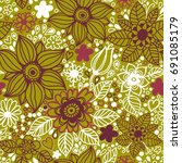 floral seamless pattern.... | Shutterstock .eps vector #691085179