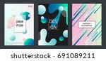 set of colorful minimal design... | Shutterstock .eps vector #691089211