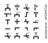pipe set icon . | Shutterstock . vector #691095724