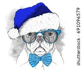 the christmas poster with the... | Shutterstock .eps vector #691096579