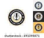 vintage trophy logo design...   Shutterstock .eps vector #691098871