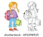 back to school. illustration... | Shutterstock . vector #691098925