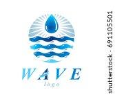 fresh mineral water design... | Shutterstock .eps vector #691105501