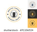 vintage drink logo design...   Shutterstock .eps vector #691106524