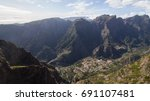 a landscape view of curral das... | Shutterstock . vector #691107481