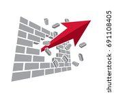 business financial trend ... | Shutterstock .eps vector #691108405