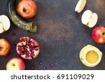 the concept of rosh hashanah ...   Shutterstock . vector #691109029