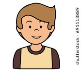 young man avatar character | Shutterstock .eps vector #691113889