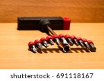 screwdriver in the form of a... | Shutterstock . vector #691118167