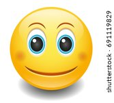 emoji smiley face vector design ... | Shutterstock .eps vector #691119829