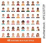 large vector set of avatars of...   Shutterstock .eps vector #691123729
