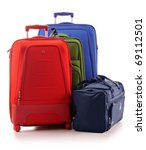 three large suitcases and... | Shutterstock . vector #69112501