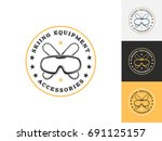 vintage ski logo design... | Shutterstock .eps vector #691125157