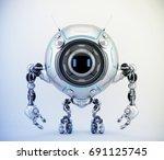 de bot robotic creature  3d... | Shutterstock . vector #691125745