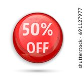 50   off sign or symbol. red... | Shutterstock .eps vector #691127977