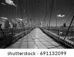 pedestrian of the brooklyn... | Shutterstock . vector #691132099