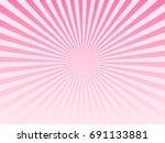 pink sunburst abstract... | Shutterstock .eps vector #691133881