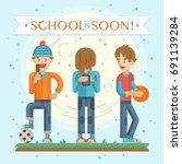 back to school soon leaflet ...   Shutterstock .eps vector #691139284