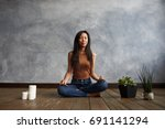 people  meditation and...   Shutterstock . vector #691141294