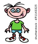 cartoon image of child icon.... | Shutterstock .eps vector #691143325