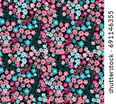 flowery bright pattern in small ... | Shutterstock .eps vector #691146355