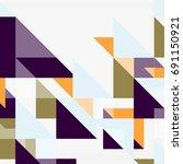 triangle pattern design...   Shutterstock .eps vector #691150921
