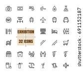 exhibition community vector... | Shutterstock .eps vector #691152187