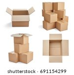 collection of  various stacks... | Shutterstock . vector #691154299