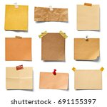 collection of various vintage... | Shutterstock . vector #691155397