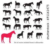 vector isolated horses...   Shutterstock .eps vector #691161475