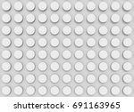 3d rendering. white convex... | Shutterstock . vector #691163965