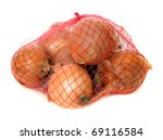 Onions Isolated On White In A...