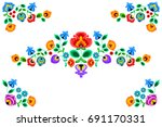 folk embroidery ornament with... | Shutterstock .eps vector #691170331