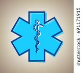medical symbol of the emergency ... | Shutterstock .eps vector #691171915