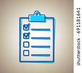 checklist sign illustration.... | Shutterstock .eps vector #691181641