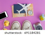 outfit and accessories of... | Shutterstock . vector #691184281