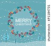 christmas cards. vector...   Shutterstock .eps vector #691184731